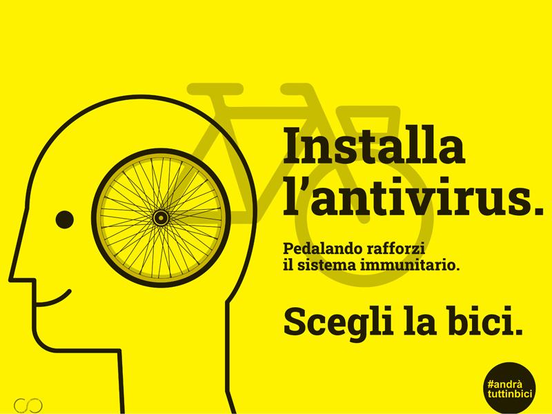 Salute, aria pulita, distanziamento fisico ... i vantaggi della bicicletta nella campagna #andràtuttinbici