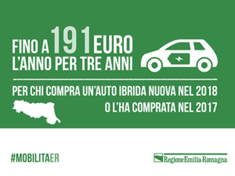 Incentivi a chi sceglie l'auto ibrida. Fino a 191 euro per acquisti nel 2017 e 2018