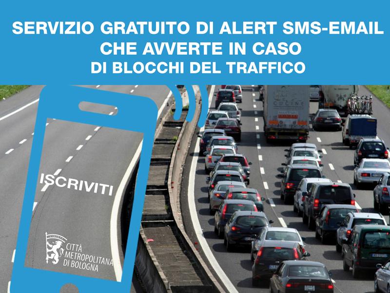 Al via il servizio gratuito di Alert SMS (o email) che avverte i cittadini dei blocchi del traffico