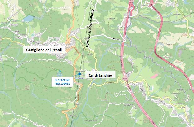 Ambito territoriale di riferimento per la localizzazione di una nuova stazione nel territorio di Castiglione dei Pepoli