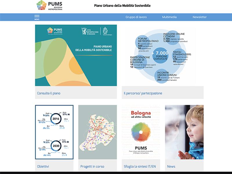 Il sito web del Pums si rinnova per facilitare partecipazione e monitoraggio del Piano